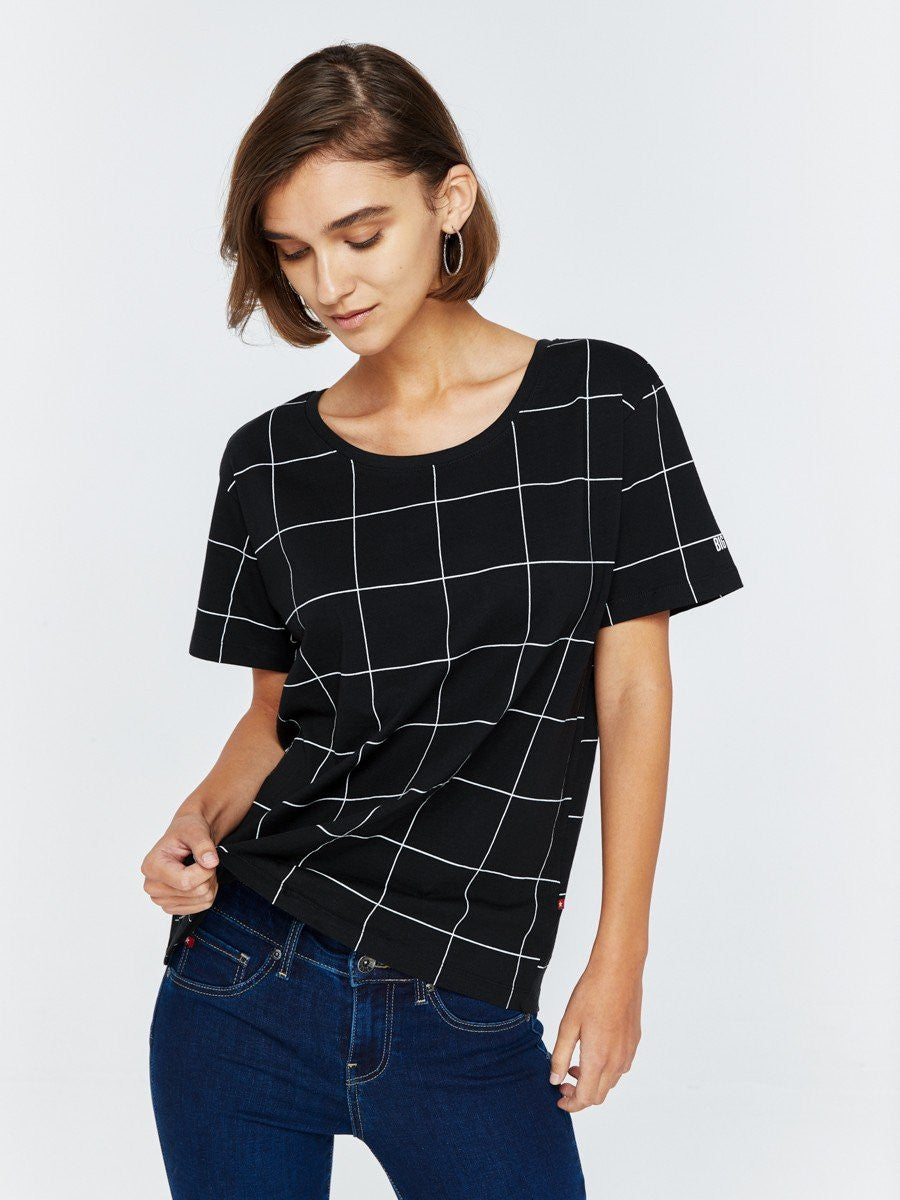 T.Shirt with Stripes | Black