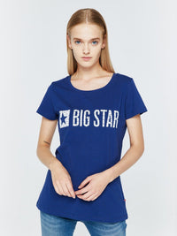 T.Shirt with Bigstar Logo | Navy