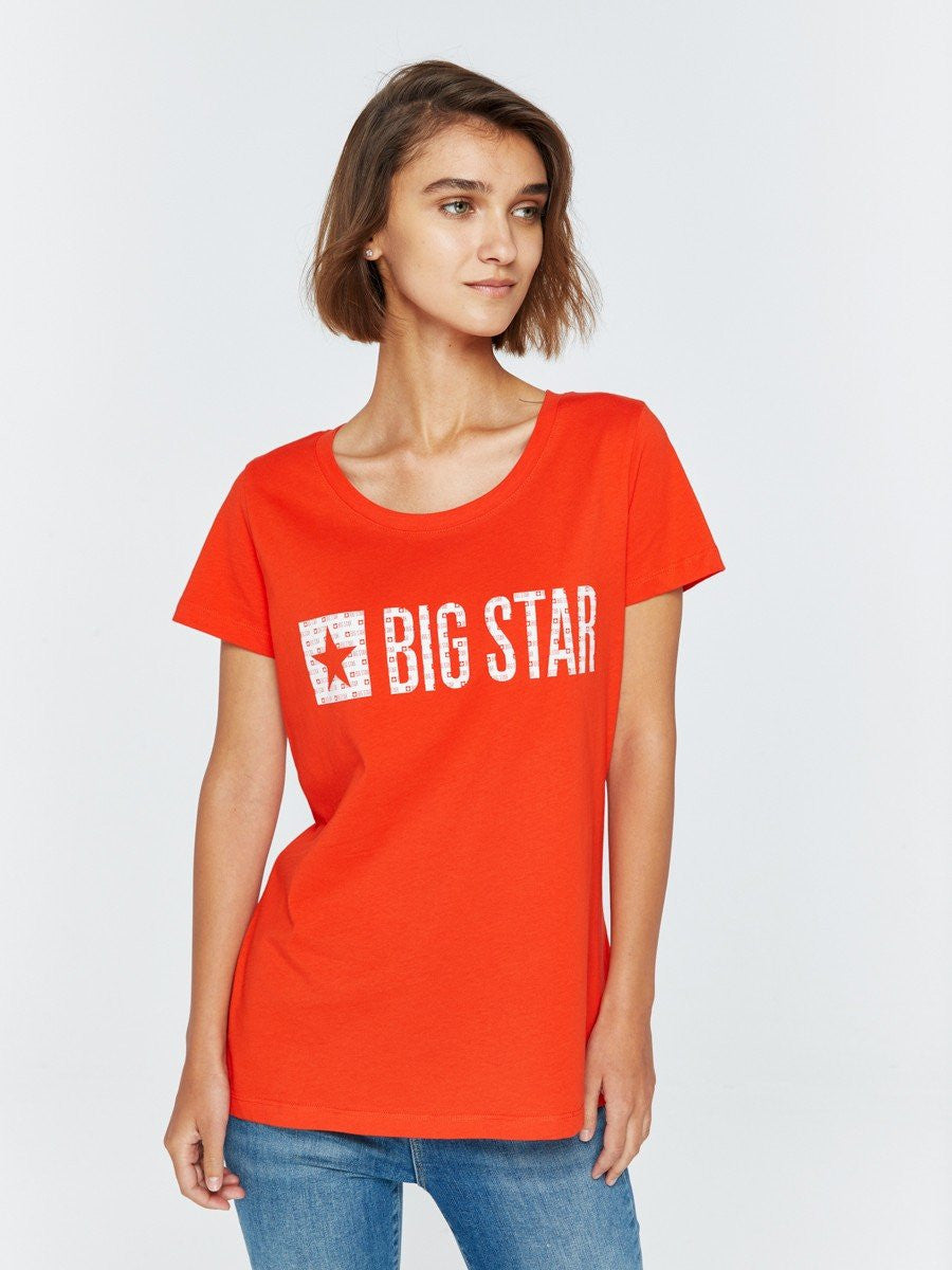 T.Shirt with Bigstar Logo | Coral