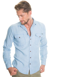 Shirt Long Sleeve Denim | Light Blue
