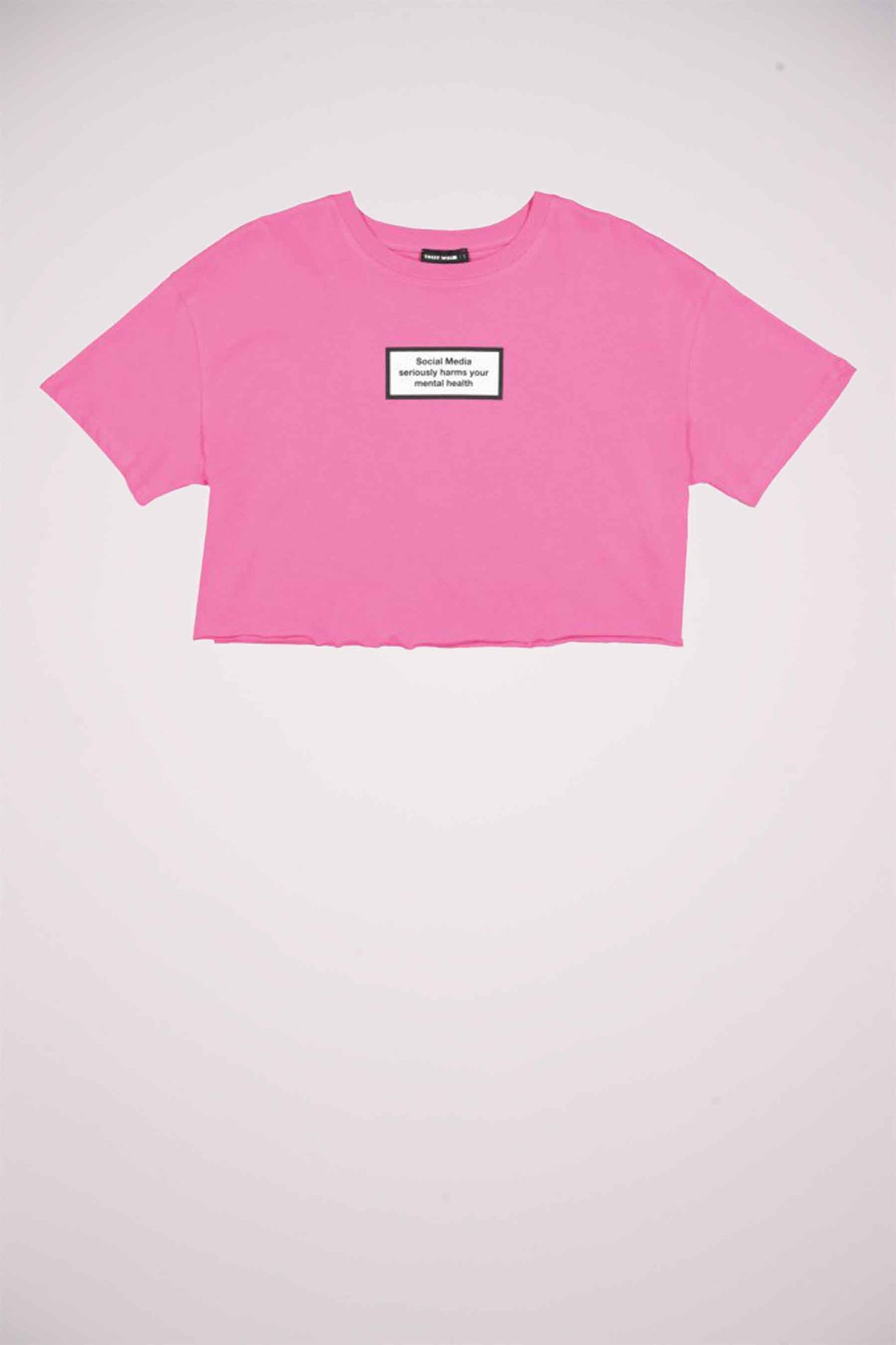 Crop Top with Slogan | Pink