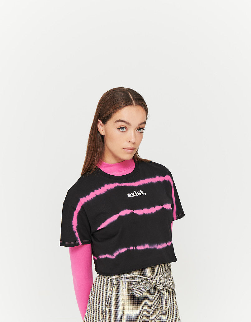 Crop Top with Slogan | Multi Color