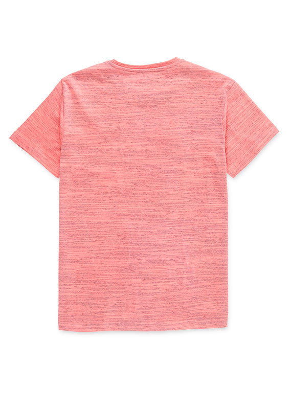 T.Shirt With Print | Coral Melange