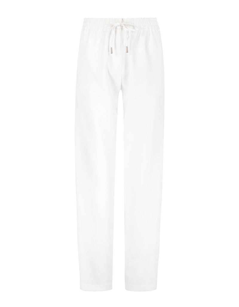 Trousers with Drawstring | White