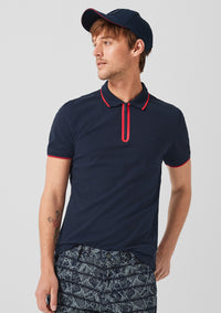 Polo with Zip  | Classic Navy