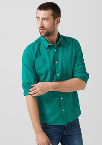 Shirt Linen Long Sleeve | Teal