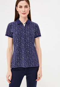 Polo All Over Print | Dark Steel Blue Aop