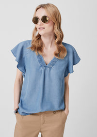 Top Denim | Blue Denim Non Stretch