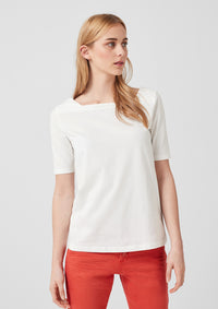 T.Shirt Square-neck | Creme