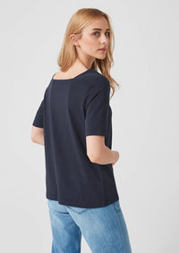 T.Shirt Square-neck | Navy