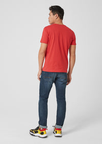 T.Shirt Basic with Label Print | Cherry
