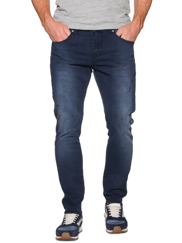 Jeans Slim Fit - Low Rise | Navy Spray Wash