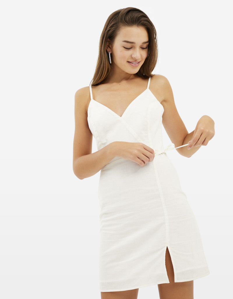 V Neck Strappy Dress | Off-White