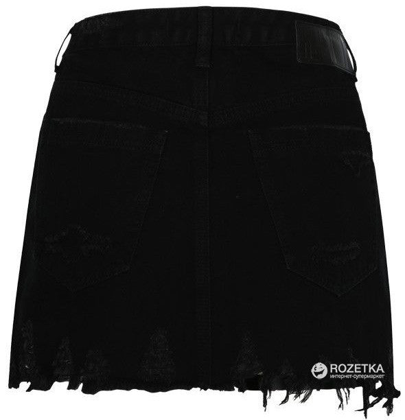 Denim Mini Skirt | Black Denim