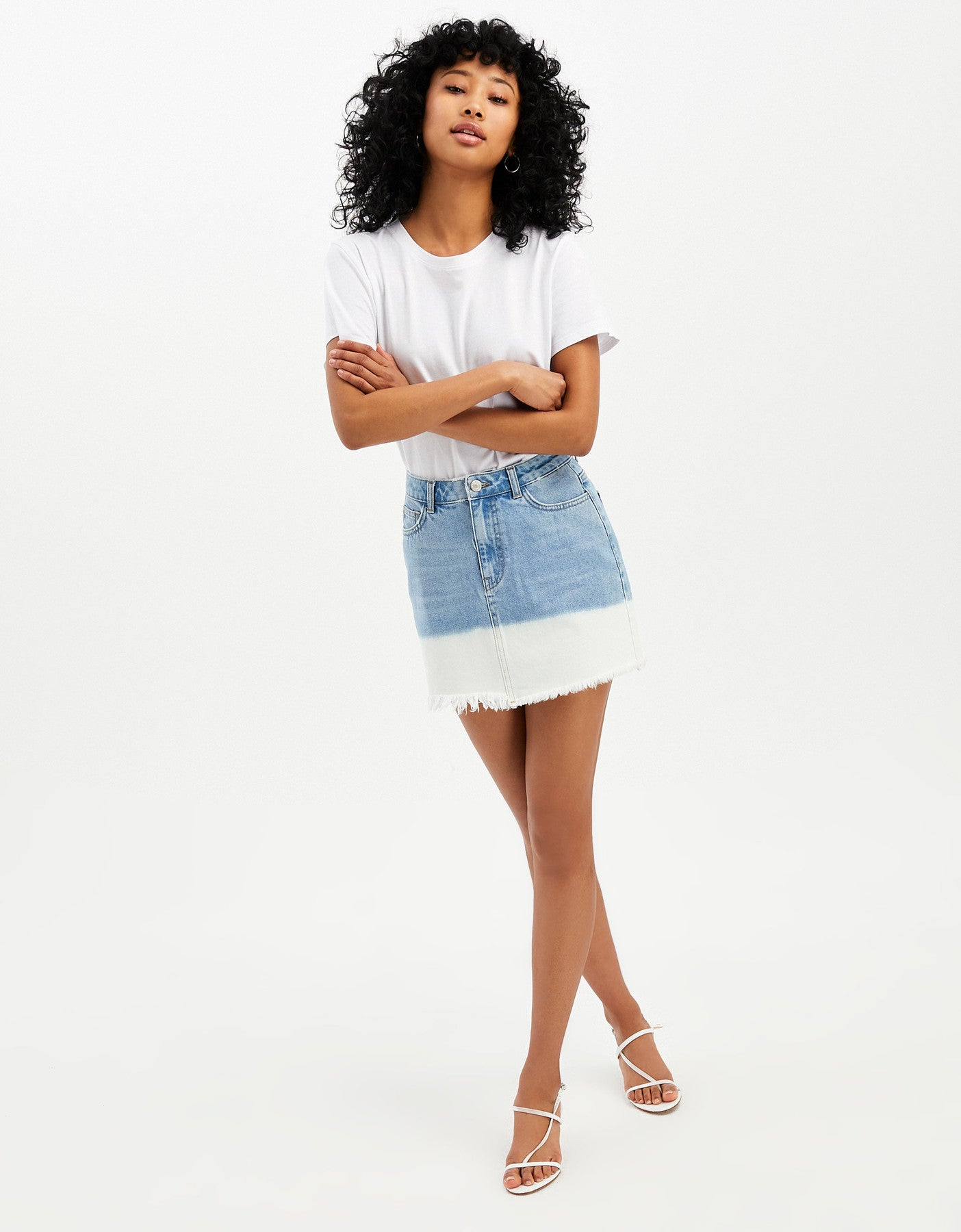 Denim Mini Skirt | Denim Blue (EHBL)