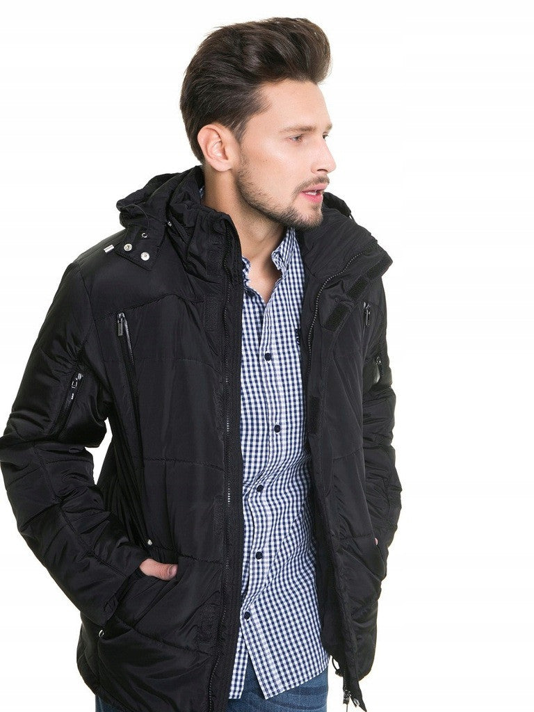 Long Jacket with Hood | Black