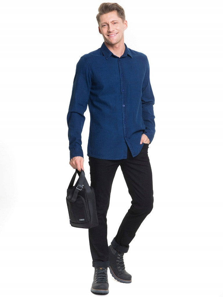 Men's Shirt Plain | Navy Blue