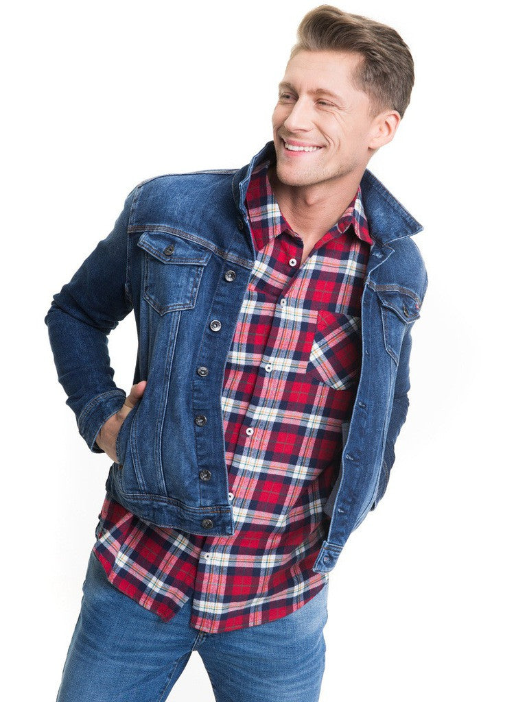 Shirt with Checks | Red