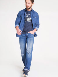 Denim Shirt Long Sleeve | Denim Blue