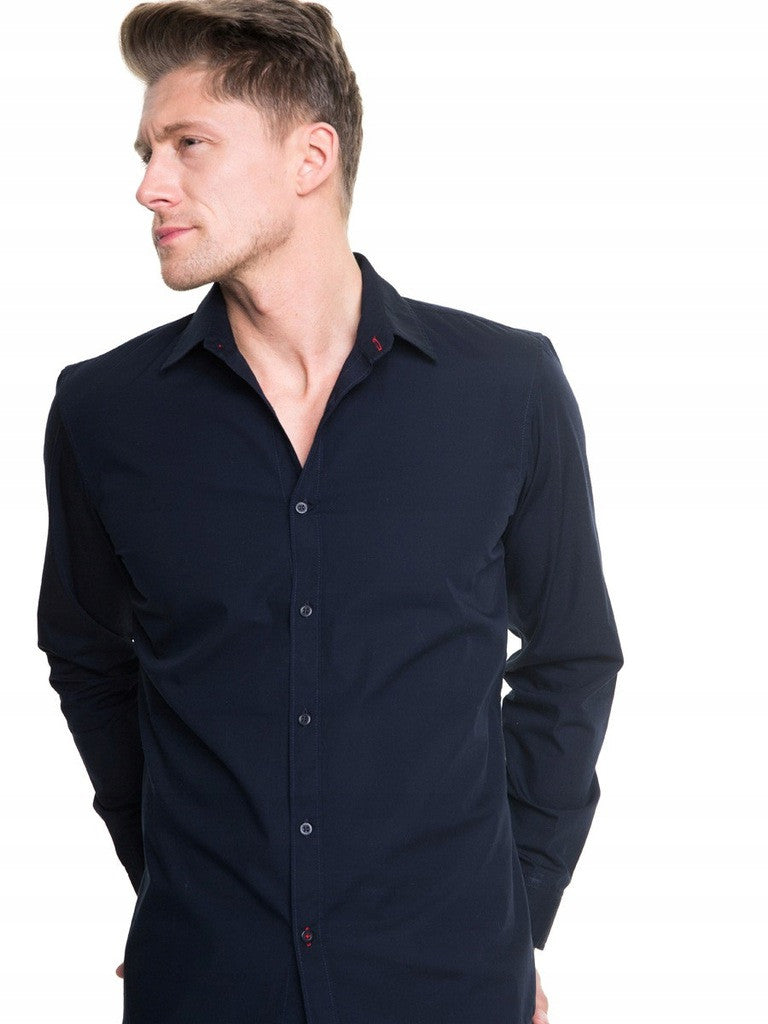 Men's Plain Shirt | Dark Navy