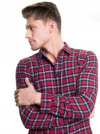 Men's Shirt with Checks | Red