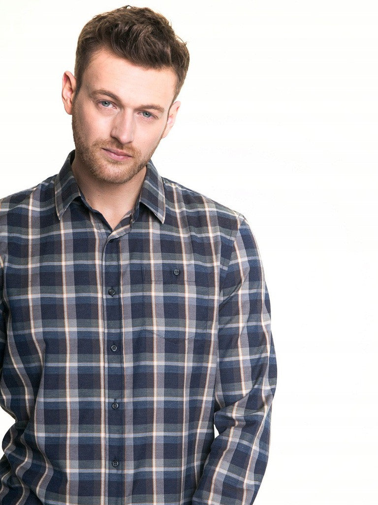Men's Shirt with Checks | Light Grey