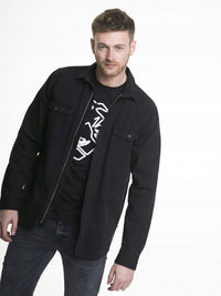 Men's Shirt with a zipper | Black