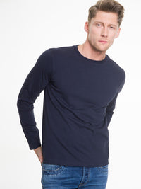 Men's T-Shirt Long Sleeve | Navy Blue