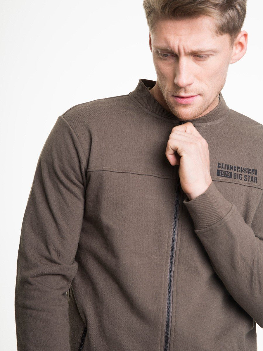 Zipped Sweatshirt | Khaki