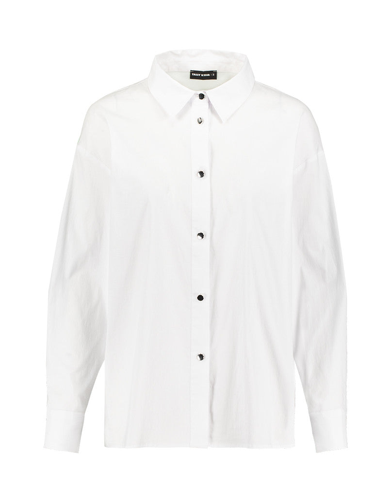 Premium Shirt with Silver Buttons | Off White
