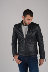Men's Leather Jacket | Black