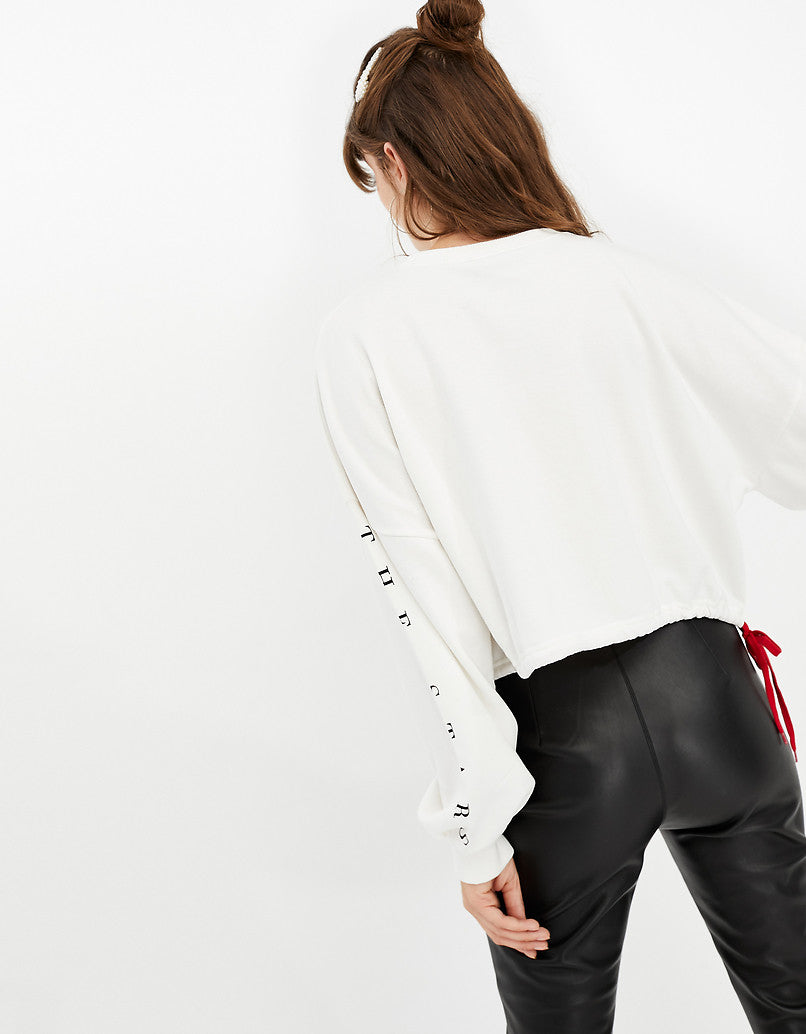 Drawstring Sweatshirt | Off White