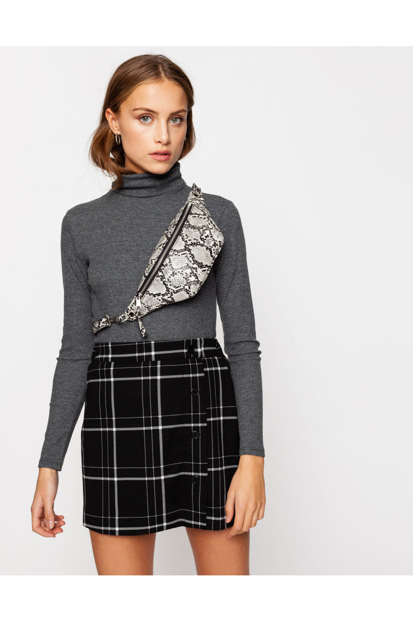 Mini Skirt  | Grey Checks