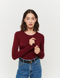Fitted Jumper | Cordovan