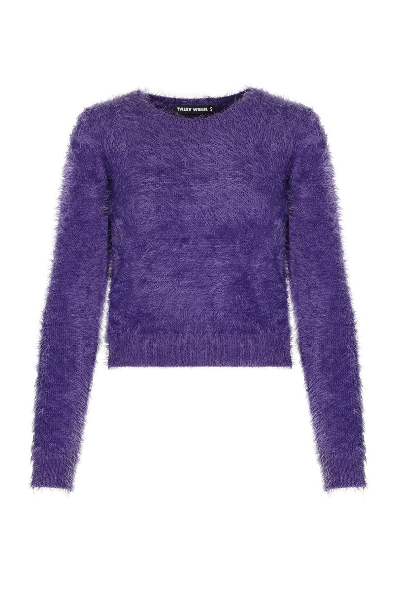 Fluffy Jumper | Blackberry