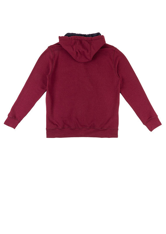 Zip Hood Jacket | Burgundy
