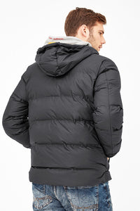 Quilted Puffer Jacket | Black