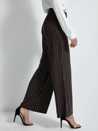 Pant with Stripes | Black White Red Lines