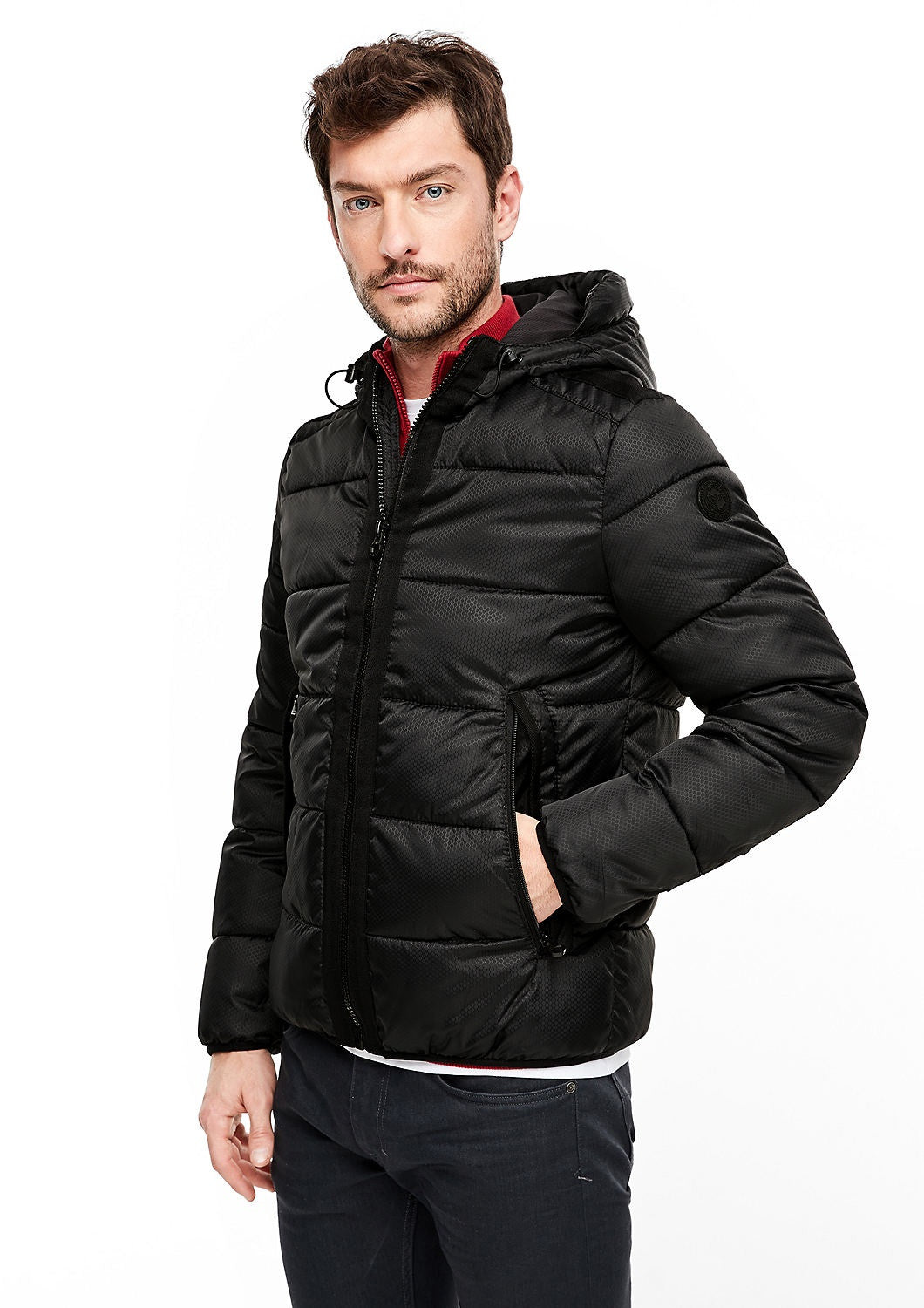 Puffer Jacket With Hood | Black
