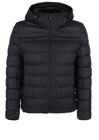 Quilted Puffer Jacket | Dark Grey