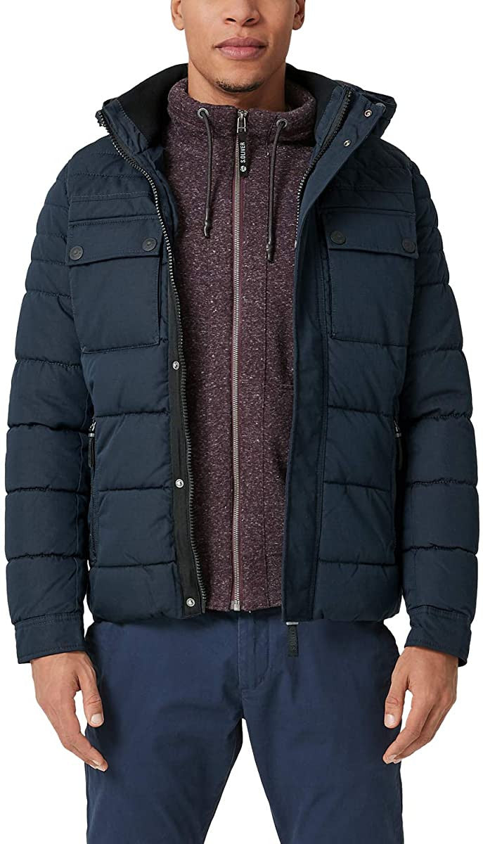 Quilted Puffer Jacket | Midnight Navy