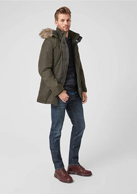 Regular Fit Parka Jacket | Khaki