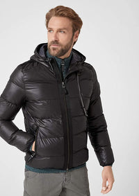 Waist Quilted Long Sleeve Jacket | Black