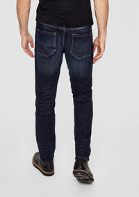 Regular Fit Denim Jeans With Belt | Dark Blue