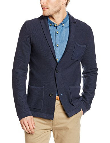 Cotton Cardigan | Navy Blue