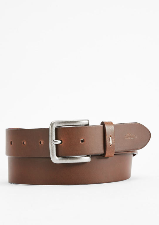 Smooth Leather Belt | Brown