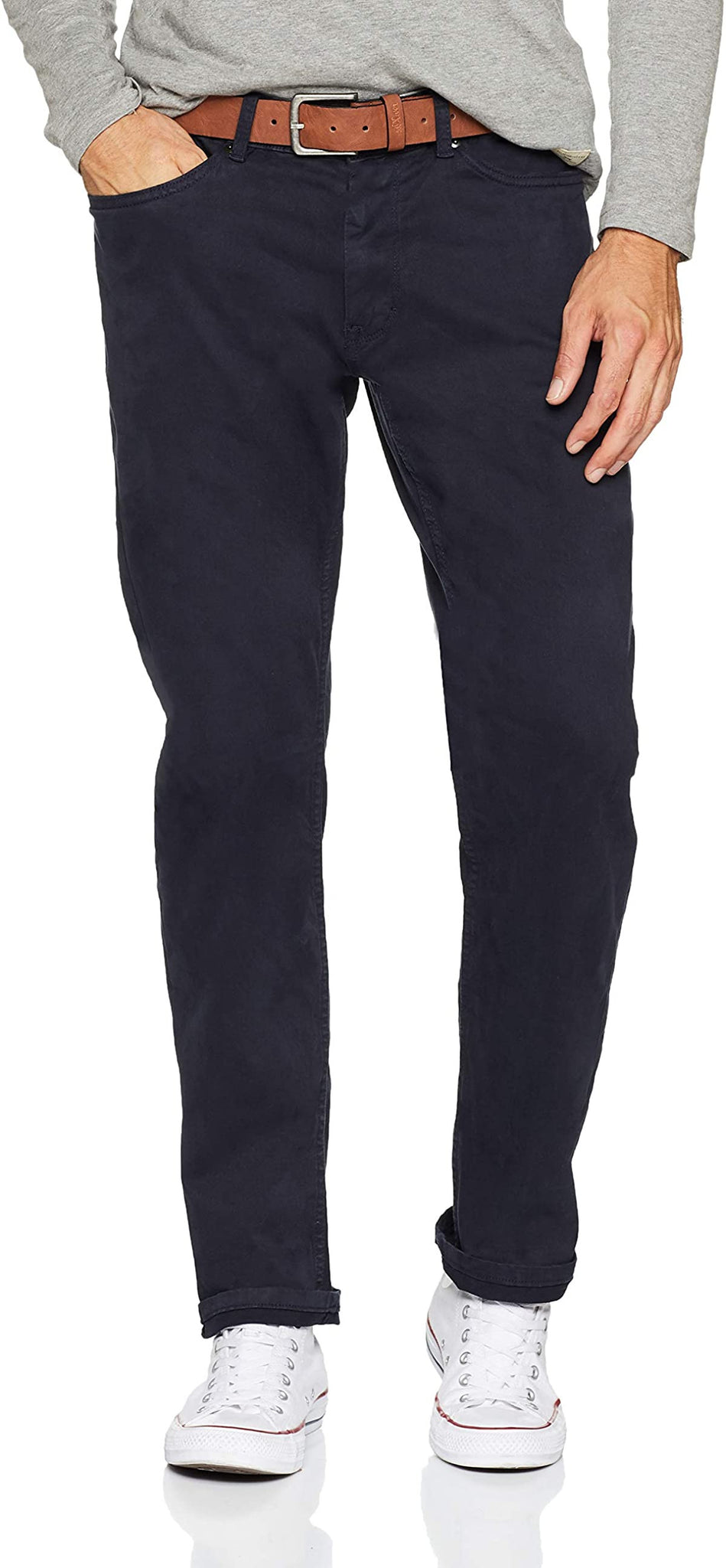 Slim Fit Pants | Navy