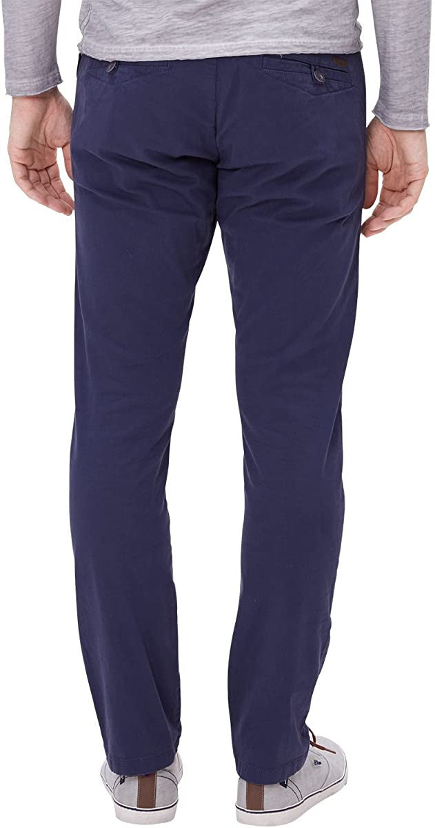 Chino Pants With Belt | Blue