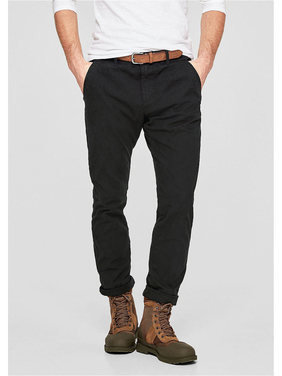 Casual Slim Fit Pants | Black