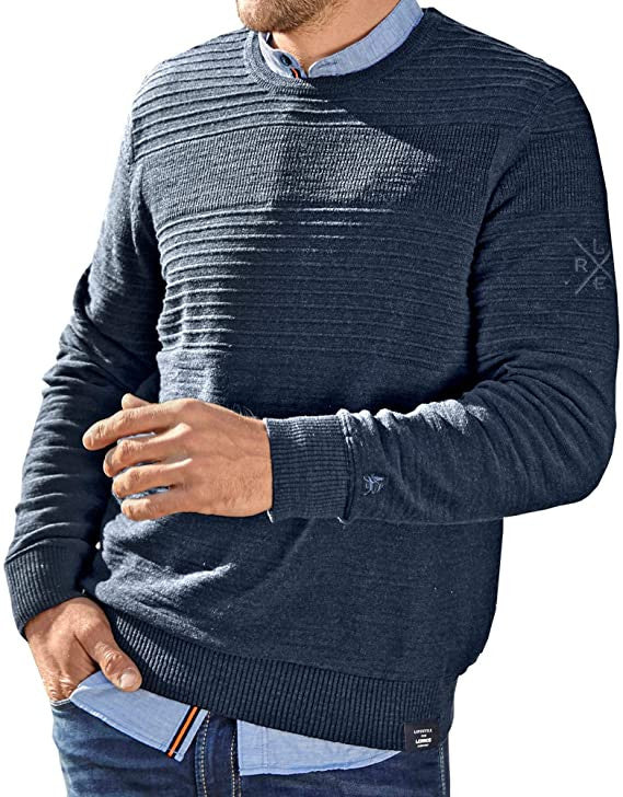 Men's Sweater | Navy Melange